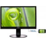 Monitor IPS LED Philips 23.8inch 241P6EPJEB, Full HD (1920 x 1080), HDMI, VGA, DVI, DisplayPort, 5 ms, Boxe, Pivot (Negru)