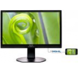Monitor IPS LED Philips 23.8inch 241P6EPJEB, Full HD (1920 x 1080), HDMI, VGA, DVI, DisplayPort, 5 ms, Boxe, Pivot (Negru)