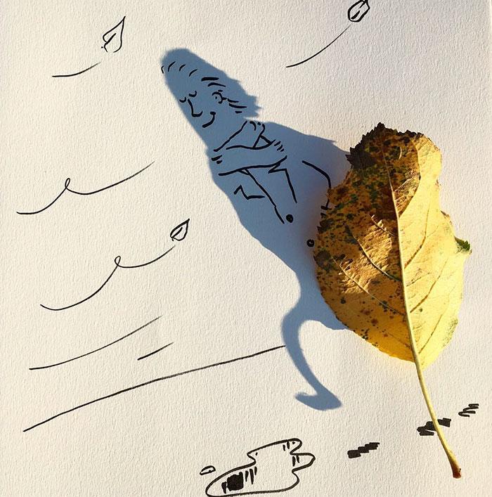 15+ Ilustratii haioase cu umbre - Poza 14