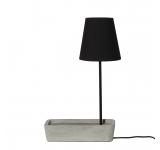 Lampa de birou Base Concrete/Black