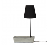 Lampa de birou Base Concrete/Black