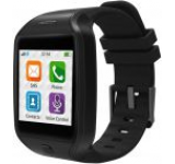 Smartwatch MyKronoz ZeTel, Transflective Capacitive touchscreen, Bluetooth, Bratara silicon, 2G (Negru)