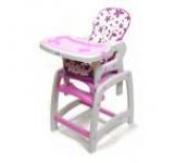 Scaun de masa copii JUJU Eat&Play JU3002-Purple-Flowers (Mov)