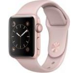 Smartwatch Apple Watch 2 Sport, Retina OLED Capacitive touchscreen 1.5inch, Bluetooth, Wi-Fi, Bratara Silicon 38mm, Carcasa Aluminiu, Rezistent la apa si praf (Roz/Roz)