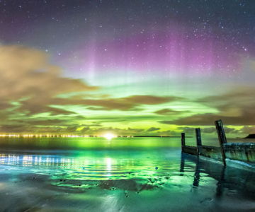 Aurora boreala in Scotia si culorile ei incredibile