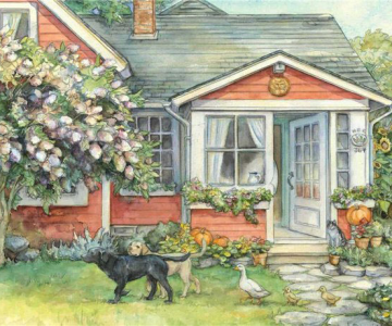Lumea plina de flori si animale a lui Kim Jacobs