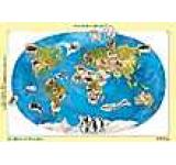 Harta lumii cu animale - Joc didactic cu 30 de piese