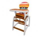 Scaun de masa copii JUJU Eat&Play JU3002-Brown-Circus (Maro)
