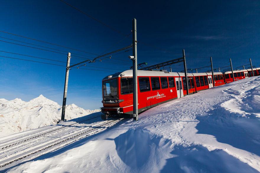 Maretia Alpilor pe timp de iarna - Poza 17