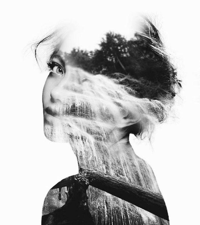 O lume fascinanta: Portrete superbe cu dubla expunere - Poza 14