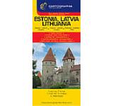 Harta rutiera - Estonia Letonia Lituania