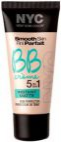 Baza de make-up New York Color BB Creme 5 in 1 Instant Matte 02 Medium