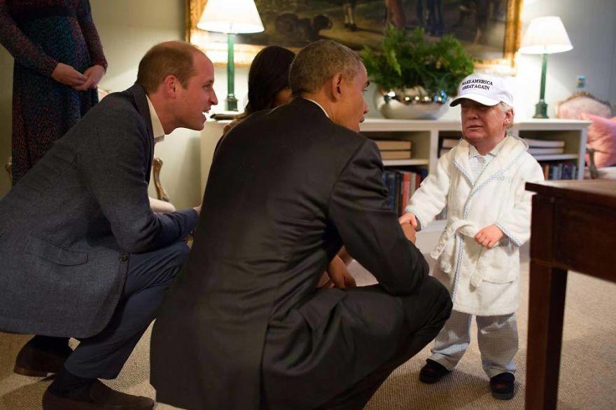 Donald Trump, ridiculizat de internauti, in poze haioase - Poza 20