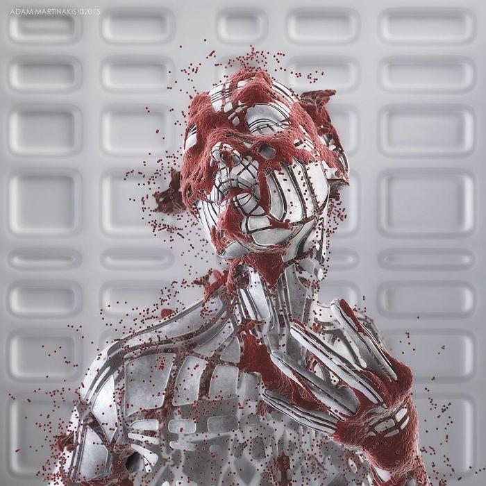 Natura duala a omului, in sculpturi 3D - Poza 10