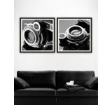 Tablou 2 piese Framed Art Camera Detail I&II