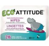 Servetele bio umede pentru bebelusi 100 % biodegradabile rezerve Attitude 216 bucati