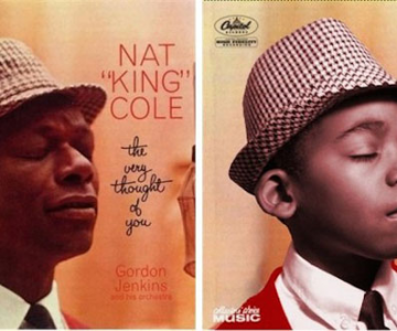 Albume celebre, recreate cu doi copii frumosi