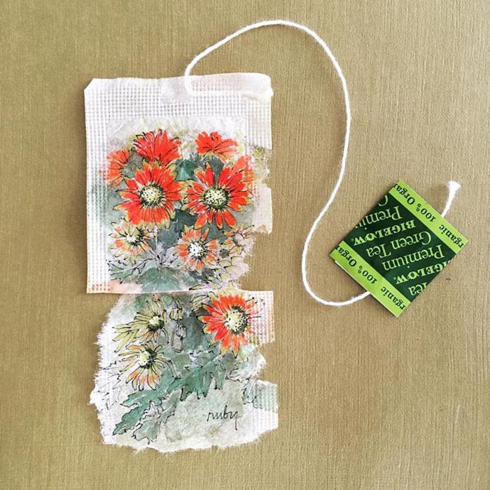 Pictura pe saculeti de ceai, de Ruby Silvious - Poza 17