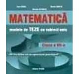 Matematica. Modele de teze cu subiect unic clasa a VII-a pentru semestru II
