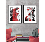 Tablou 2 piese Framed Art Fashion Girls