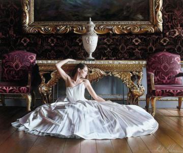 Picturi hiper-realiste cu o mireasa de poveste