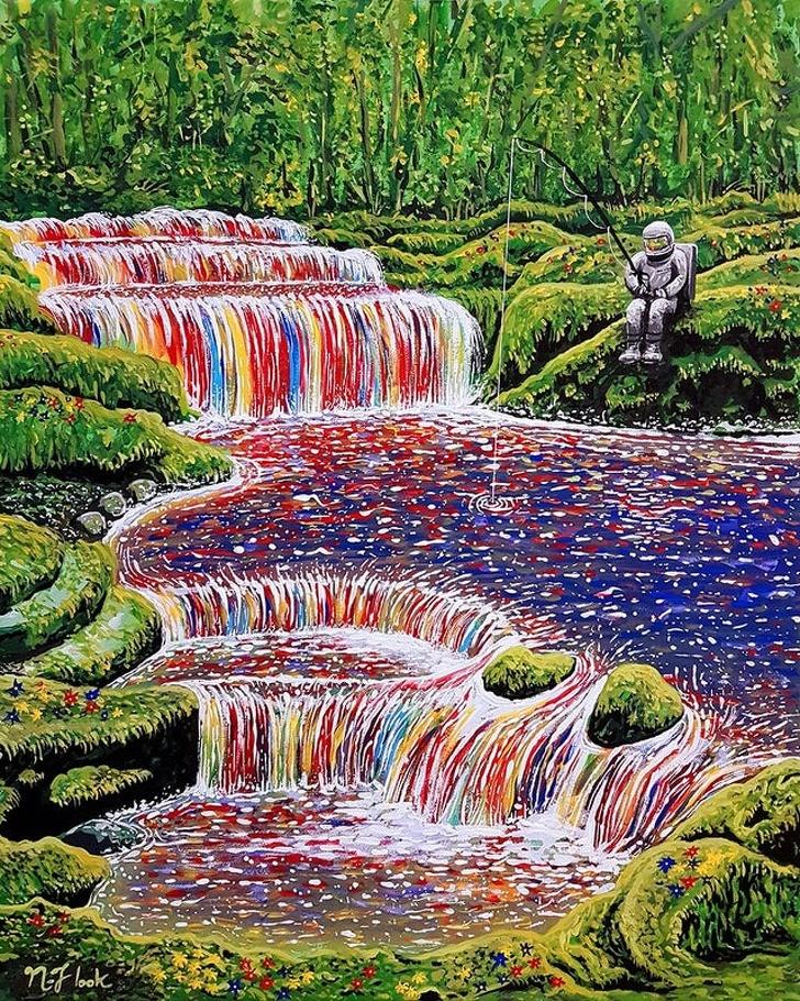 Creatii ale pictorilor amatori demne de a fi expuse in marile muzee - Poza 13