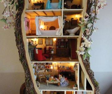 Casa-miniatura in copac, de Maddie Brindley