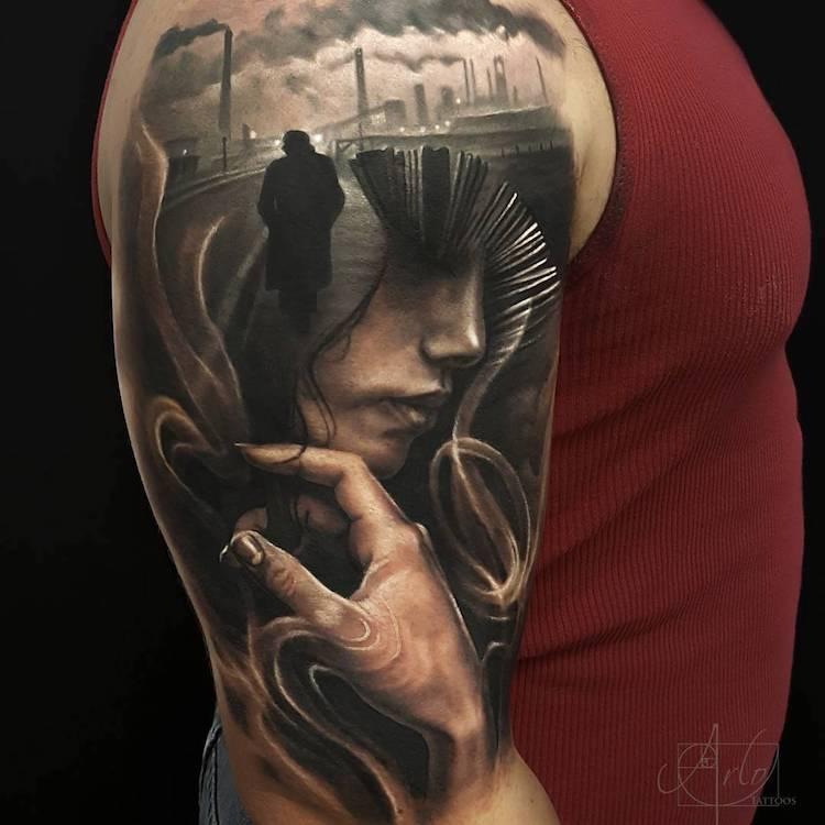 Tatuaje impresionante suprarealiste, de Alro DiCristina - Poza 4
