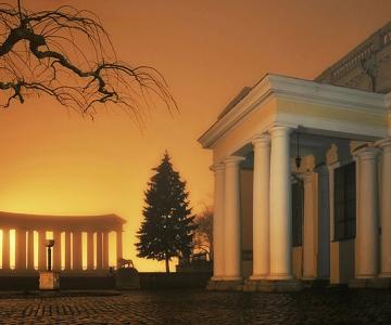 Luminile de iarna ale orasului Odessa