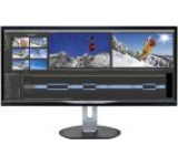 Monitor AH-IPS LED Philips 34inch BDM3470UP/00, UltraWide QHD, MHL-HDMI, DVI-DL, DisplayPort, 5ms GTG, Boxe (Negru)