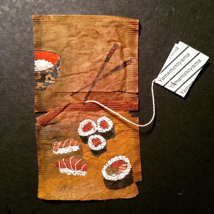 Pictura pe saculeti de ceai, de Ruby Silvious - Poza 10