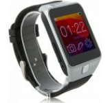 Smartwatch iUni U18, LCD Capacitive touchscreen 1.5inch, Bluetooth, Bratara silicon (Negru/Argintiu)