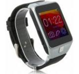 Smartwatch iUni U18, LCD Capacitive touchscreen 1.5inch, Bluetooth, Bratara silicon (Negru/Argintiu)