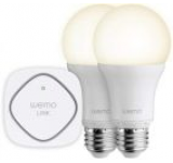Set Belkin WeMo F5Z0489 ilumiat cu Bec LED Starter inteligent E27, A19, 60W + WeMo Link pentru priza, control prin WI-FI