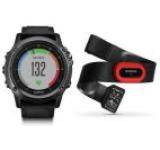 Ceas activity outdoor tracker Garmin Fenix 3 Sapphire HR, Performer Bundle, Bratara din silicon (Gri)