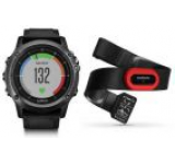 Ceas activity outdoor tracker Garmin Fenix 3 Sapphire HR, Performer Bundle, Bratara din silicon (Gri)