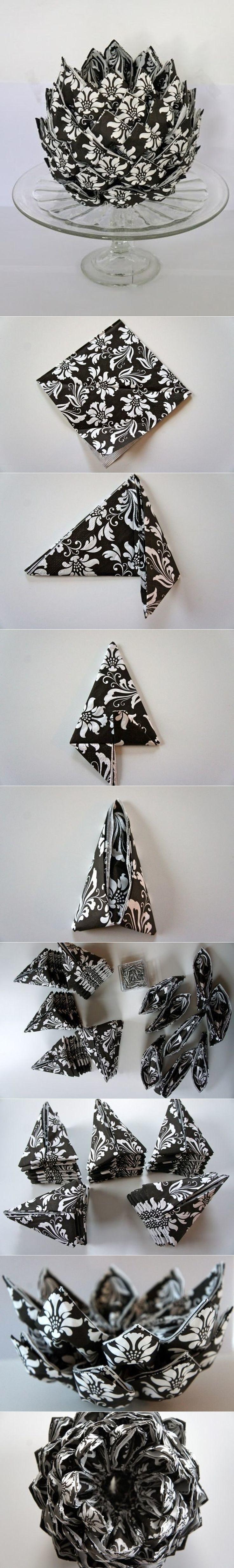 Pentru Revelion: Tehnici geniale de impaturire a servetelelor - Poza 14