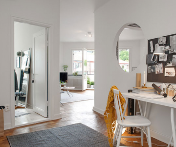Apartament renovat cu personalitate la Gothenburg, in Suedia