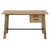 Masa de birou din lemn si furnir Stockholm, L130xl60xh75 cm