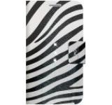 Husa White Diamonds Safari Zebra pentru Galaxy S6 (Negru/Alb)