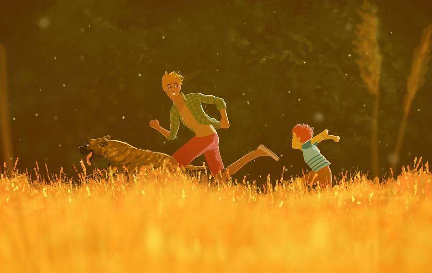 Cele mai frumoase clipe ale copilariei, in ilustratii nostalgice - Poza 2