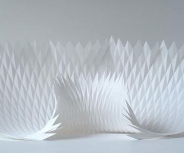 Matthew Shlian sculpteaza mirat in hartie