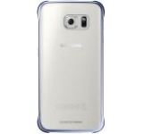 Protectie spate Samsung EF-QG925B pentru Galaxy S6 Edge (Transparent/Negru)