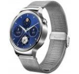 Smartwatch Huawei Watch W1, Amoled 1.4inch, 512MB RAM, 4GB Flash, Bluetooth, Bratara Plasa Otel Inoxidabil 42mm, Carcasa din Otel Inoxidabil (Argintiu)