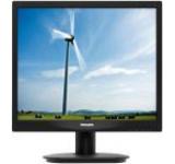 Monitor LED Philips 17inch 17S4LSB/00, VGA, DVI-D, 5ms, SmartImage (Negru)