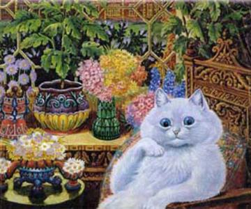 Pisicile psihedelice pictate de Louis Wain