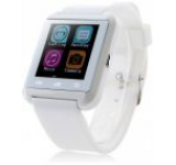Smartwatch iUni U8i, Capacitive touchscreen, Bluetooth, Bratara silicon (Alb)