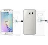 Folie protectie Sticla Temperata OEM pentru Samsung Galaxy S6 Edge Plus, fata/spate (Transparent)