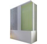 Paravan pentru cada Gallassia LUX 170 AR, deschidere din colt cu doua laturi, 170x70x150 cm, 2 usi pliabile pana la perete