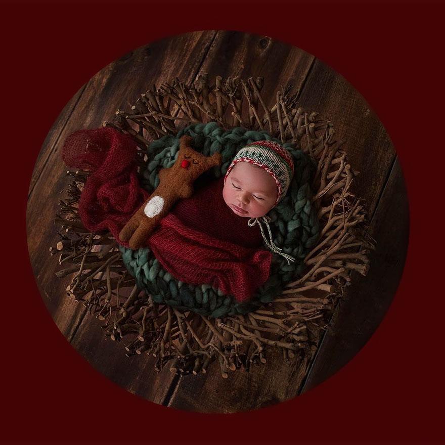 15+ Bebelusi adorabili in asteptarea Craciunului - Poza 17